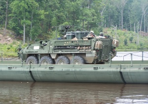 Soldiers from the Pennsylvania Guard's Company D, 112th Infantry (Anti-tank) and Company B, 1st Battalion, 111th Infantry, 56th Stryker Brigade Combat Team, 28th Infantry Division conducted an assault across the bridge.