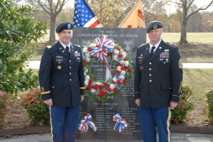 Lt. Col. Peter E. Dargle and Command Sergeant Major Keith R. Whitcomb
