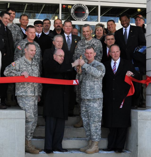 The Asymmetric Warfare Training Center at Fort A.P. Hill, Va. officially opened today following a ribbon cutting ceremony.