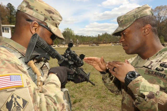 D.C. National Guard Soldiers get ready for National Marksmanship Competition