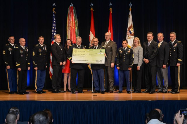 Chief of Staff of the U.S. Army Gen. Mark A. Milley hosts the Army Communities of Excellence Awards Ceremony, May 24, 2016 in the Pentagon Auditorium.