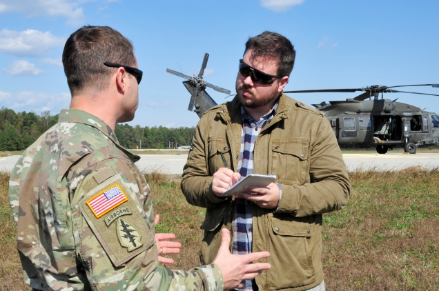 LTC Andrew Q. Jordan interviewed by Drew Brooks of the Fayetteville Observer