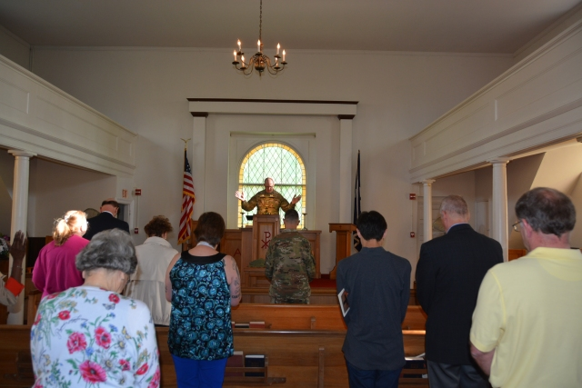 U.S. Army Garrison Fort A.P. Hill celebrated Holy Wednesday with a service led by Chaplain Lt. Col. T.M. Wolf at historic Liberty Church.